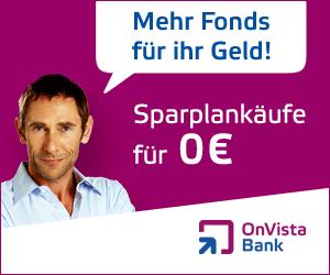Aktuelle Neukundenaktion der OnVista Bank